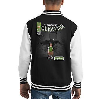 Quailman No More Doug Comic Superhero Kid's Varsity Jacket