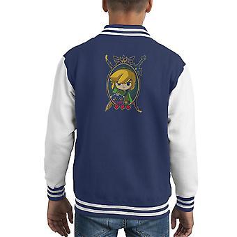 Held der Zeit Portrait Legend Of Zelda Kid Varsity Jacket