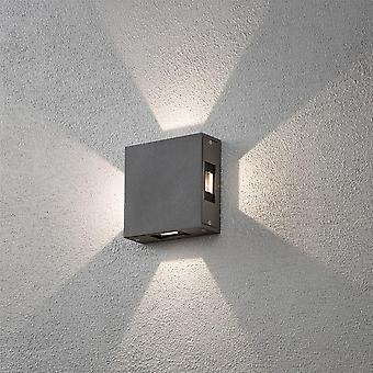 Konstsmide Cremona Square Grey Wall Light