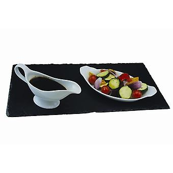 Slate Runner Table Centrepiece Serving Tray Black Ideal for Dinner Parties