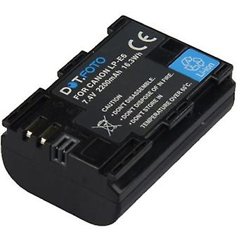 Dot.Foto Canon LP-E6 Replacement High Capacity Battery - 7.4v / 2200mAh