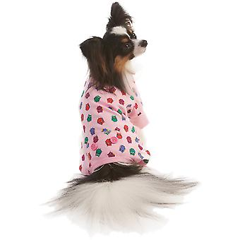 Owl Print Dog Pj's-Pink Small 200344