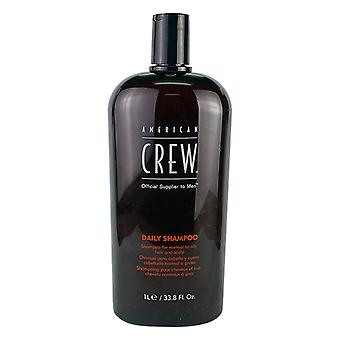 American Crew Men Daily Shampoo (For Normal to Oily Hair and Scalp) 1000ml/33.8oz