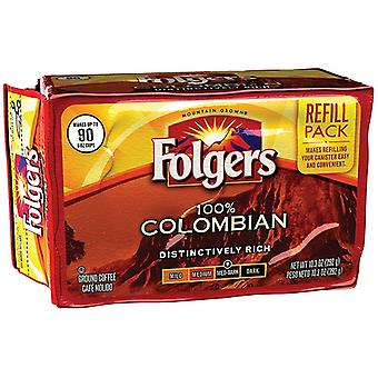 Folgers 100% Colombian Ground Coffee Refill Pack