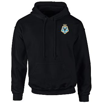 HMS Tarbatness Embroidered Logo - Official Royal Navy Hoodie