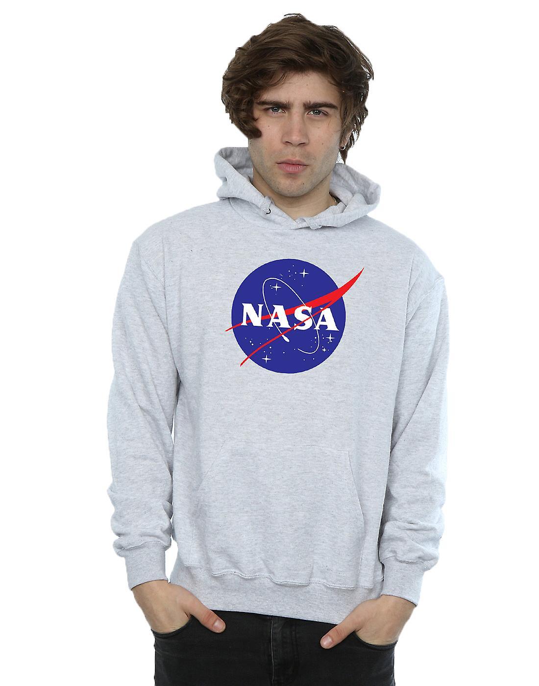 NASA mænds klassiske insignier Logo hættetrøje   Fruugo