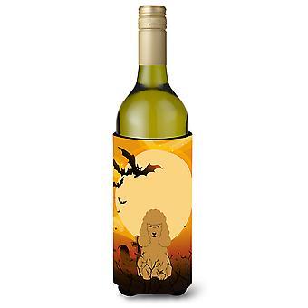 Halloween Poodle Tan Wine Bottle Beverge Insulator Hugger