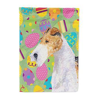 Carolines Treasures  SS4823-FLAG-PARENT Fox Terrier Easter Eggtravaganza Flag
