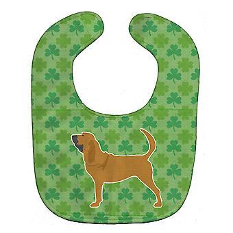 Каролинских сокровища BB6389BIB Bloodhound трилистники ребенок нагрудник