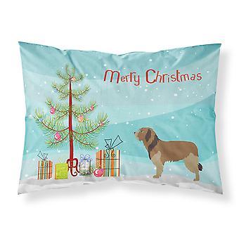 Catalan Sheepdog Christmas Fabric Standard Pillowcase