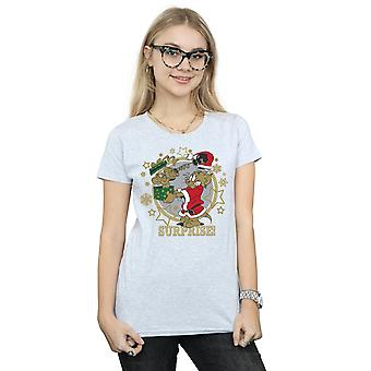 Tom And Jerry Women's Christmas Surprise T-Shirt