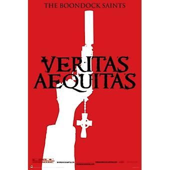 The Boondock Saints Veritas Red Poster Poster Print
