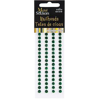 Metal Stickers Nailheads 5Mm Round 64 Pkg Xmas Green 38Ms5mm 3902