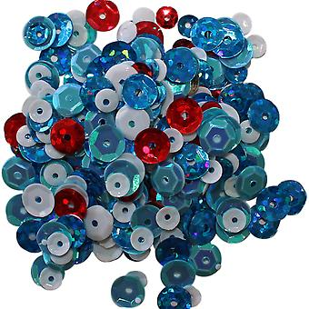 Clear Scraps Sequin Multi Pack 350 To 400 Pieces-Winter CSSQ-WINTR