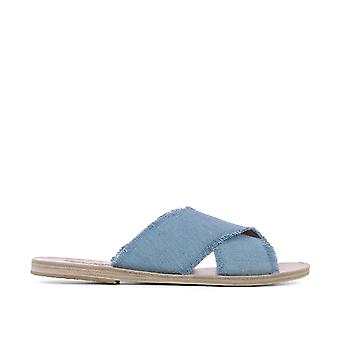 Ancient Greek Sandals Damen THAISLIGHTDENIM Hellblau Stoff Sandalen