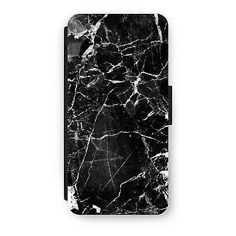 iPhone 8 Flip Case - Black Marble 2