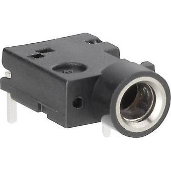 3.5 mm audio jack Socket, horizontal mount Number of pins: 3 Stereo Black BKL Electronic 1109050 1 pc(s)