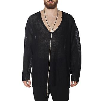 Nostrasantissima men's TS3301000 black linen sweater