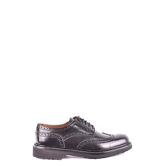 Doucal's women's MCBI102021O black leather lace-up shoes