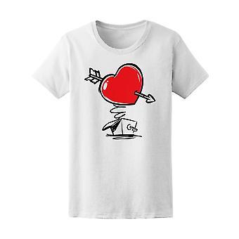 Surpise Box Herz mit Pfeil Tee Frauen-Bild von Shutterstock