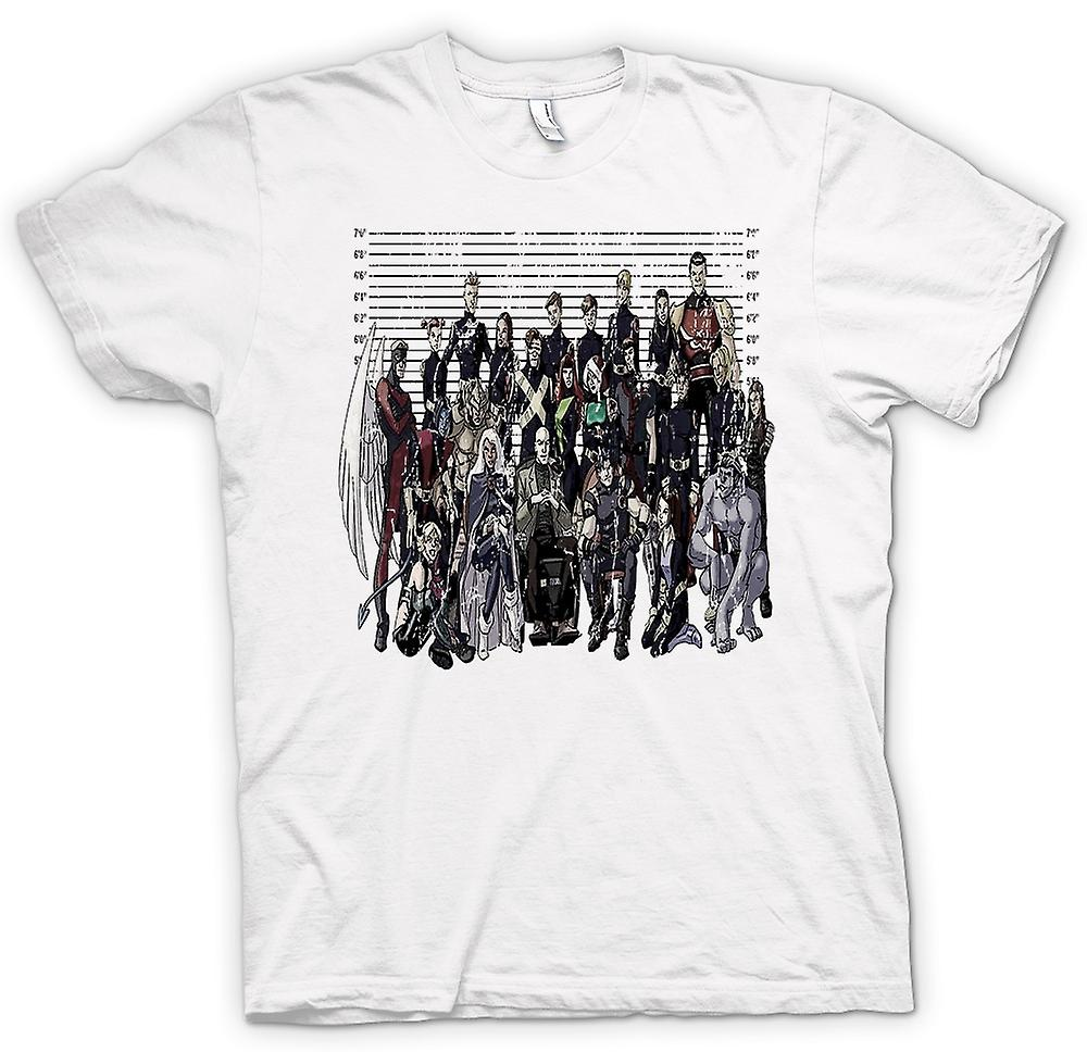 T-shirt-X Men - Mug Shot - Funny