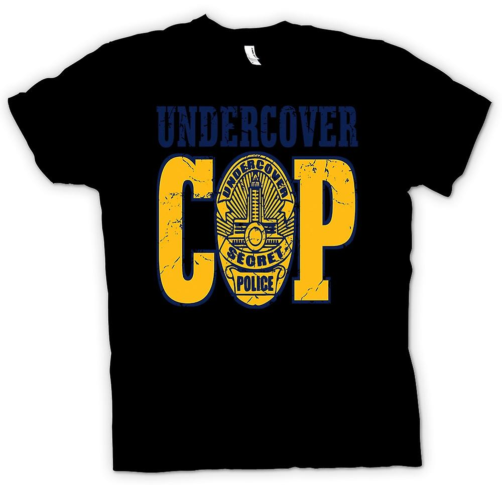 Mens T-shirt - Undercover Cop - Secret Police
