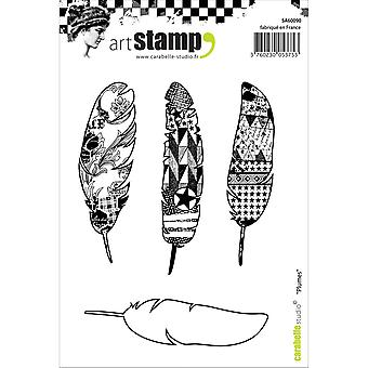 Carabelle Studio Cling Stamp A6-Feathers