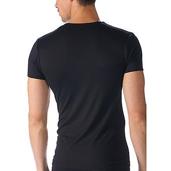 Mey Men 42507-123 Men's Software Black Solid Colour Short Sleeve Top