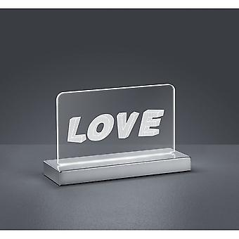 Трио освещения любовь современный хром металл настольная лампа