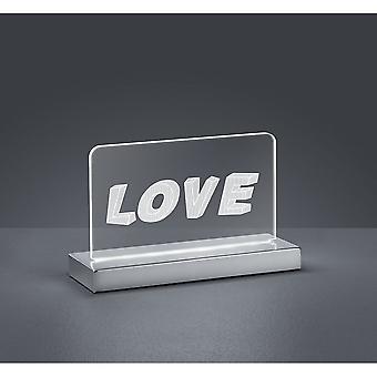 Trio Lighting Love Modern Chrome Metal Table Lamp