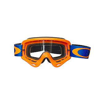 Oakley Shockwave-Orange-Blå O ram MX Goggle