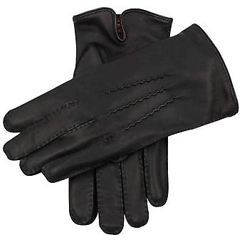 Dents Levens Cashmere Lined Hairsheep Leather Gloves - Black/Purple