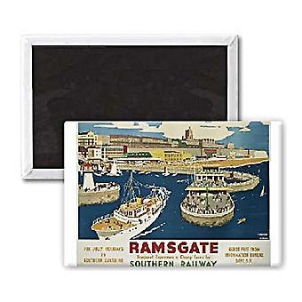 Ramsgate (antiguo ferrocarril Ad.) Imán del refrigerador acero paisaje