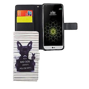 Mobiele telefoon geval zakje voor mobiele telefoon, LG G6 van boze hond wit
