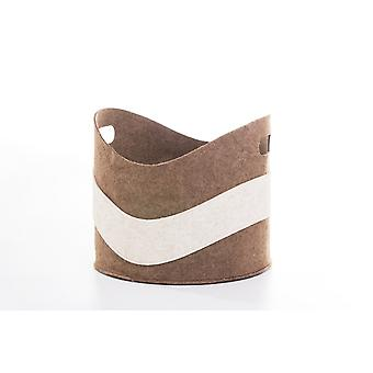 Чувствовал корзины хранения для древесины игрушек газет в коричневый цвет белый