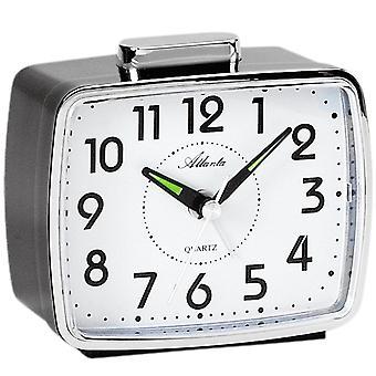 Atlanta 1654/7 alarm clock quartz analog black with Bell signal