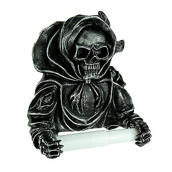 Gothic Grinning Grim Reaper Wall Mounted Toilet Paper Holder