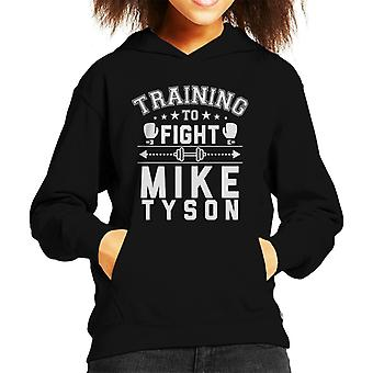 Training To Fight Mike Tyson Kid's Hooded Sweatshirt