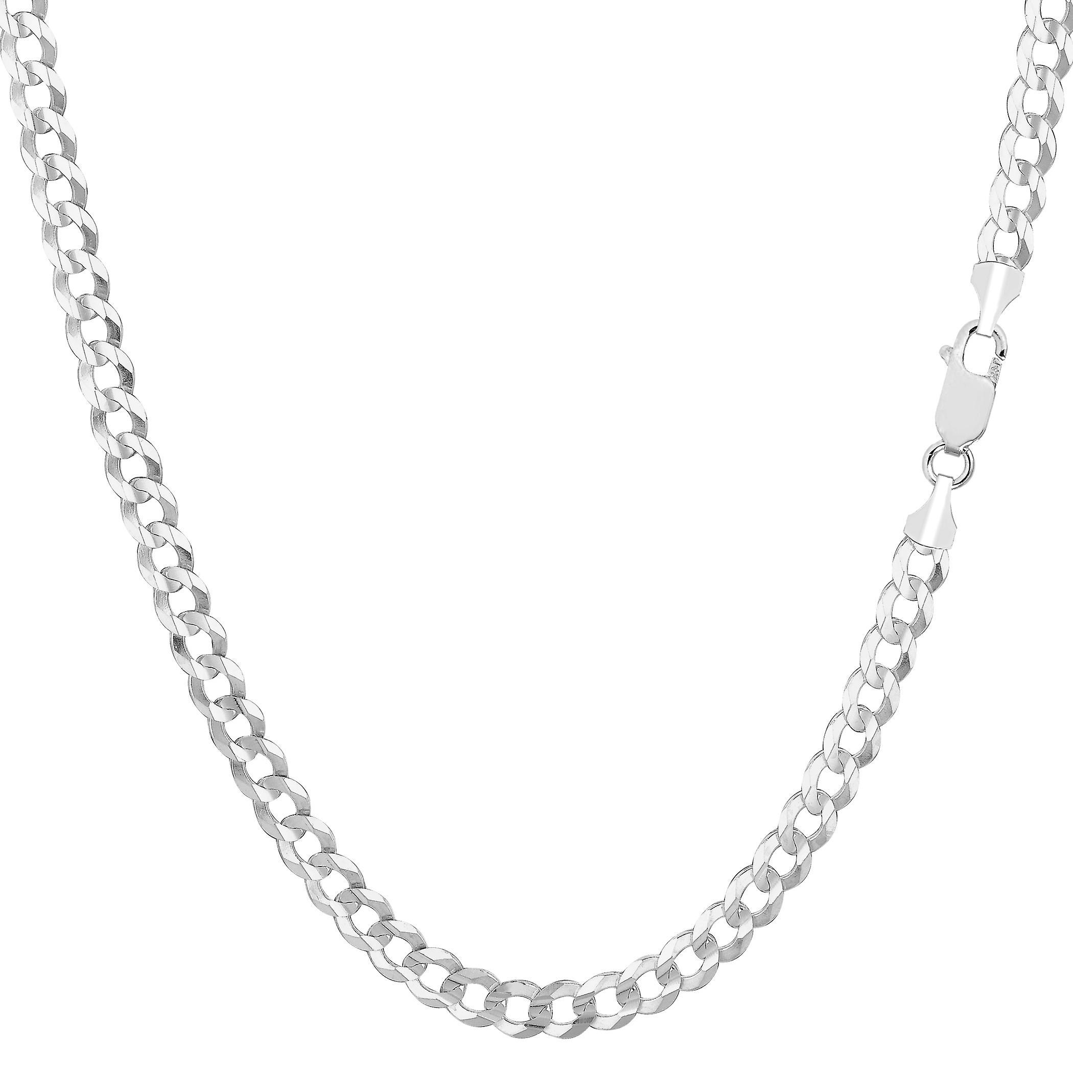 14 k or blanc confort Curb chaîne collier, 3,6 mm