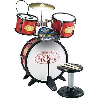 Bontempi Rock Drummer Drum Set with Electronic Rhythm Tutor, Stool and Headset