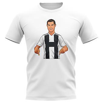 Cristiano Ronaldo Juventus Gunnerballz t-shirt (branco)