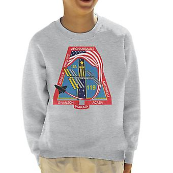 NASA STS 119 Space Shuttle Discovery Mission Patch Kid's Sweatshirt
