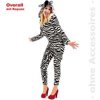 Féminin de combinaison zèbre costume costume de zèbre jumpsuit Afrique KapuzenoverallWildpferd dames