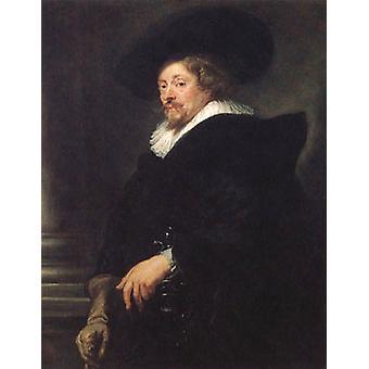 Self-portrait, Peter Paul Rubens,50x40cm