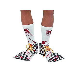 Blutig Clown Schuhe Halloween Horror Accessoire Bloody Shoe