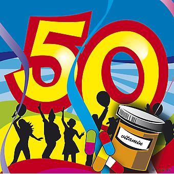 Bursdag servietter 50 bursdag dekorasjon fest servietter 20 PCer