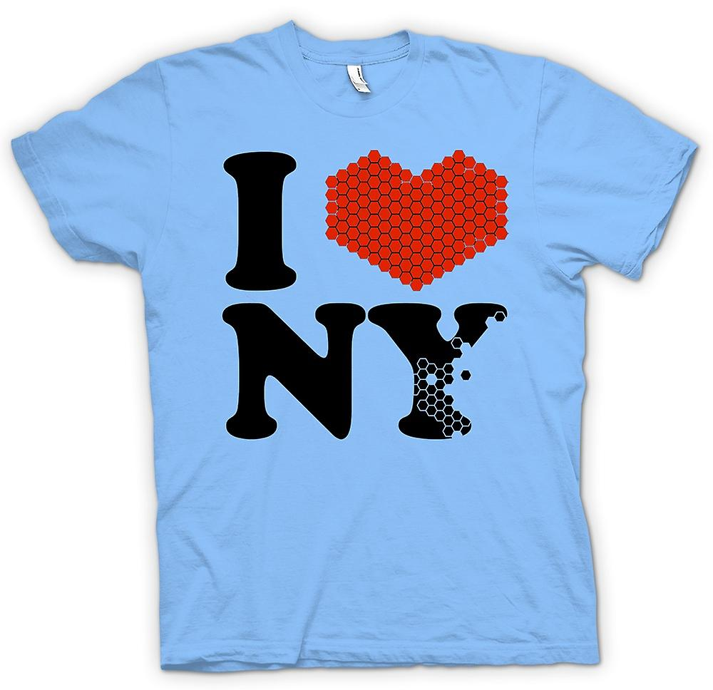 Mens T-shirt - I Love Heart New York - NY