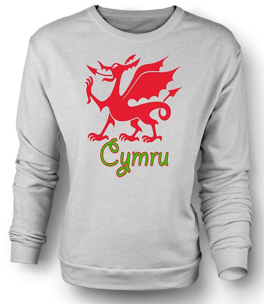 Mens Sweatshirt walesisk drake - Cymru
