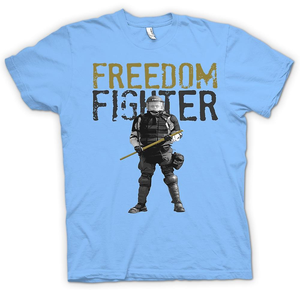 Mens T-shirt - Freedom Fighter - Police State