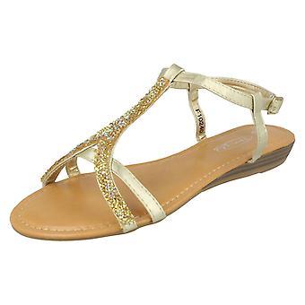 Damer plats på ankel Strap Sandal